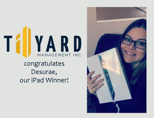 Tillyard Management Inc. has an iPad Air Winner!